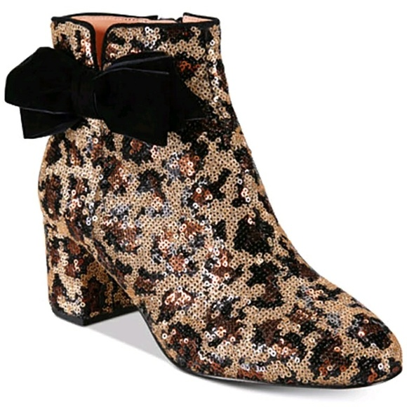 Kate Spade New York Sequined Square-Toe Booties 2014 new cUtGZ